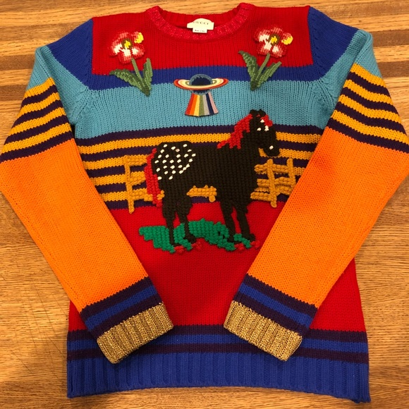 Gucci Sweaters Rainbow Sweater Kids Sz 12 Womens Xs Poshmark